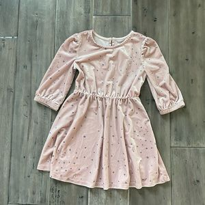 GAP Pink Velvet Star ⭐️ Dress EUC